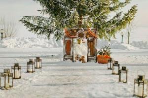 Altar in aer liber, iarna